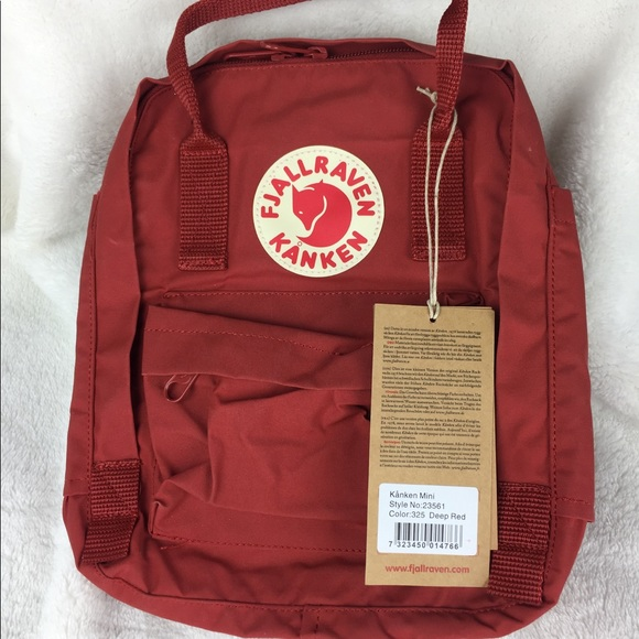d4cb44fe8f NWT Fjallraven Deep Red Kanken Mini Backpack